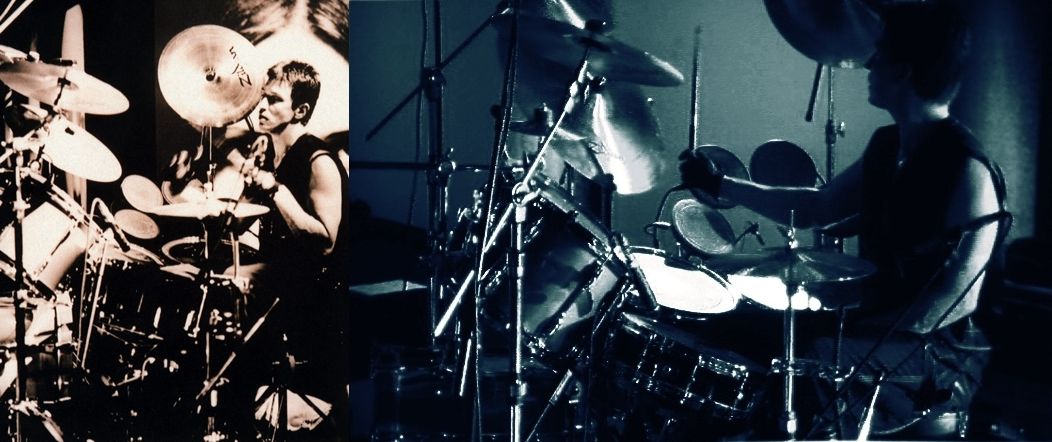 Alan Wilder and his drums